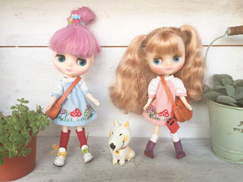 Holala、中布、妺頭、wonderfrog大蛙尺寸蘑菇森林手工花刺繡洋裝