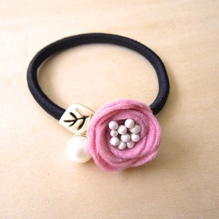 RARAPUPU flowers pearl hair ring pink