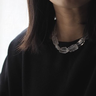 Necklace項鍊:  The Jewell East Necklace  - N066 - Crystal, Quartz, Glass bead, 925 Sterling silver clasp, made to order, gift, handmade 水晶,石英石,玻璃,珠子,捷克,純銀釦夾,限量手工,訂製,禮物