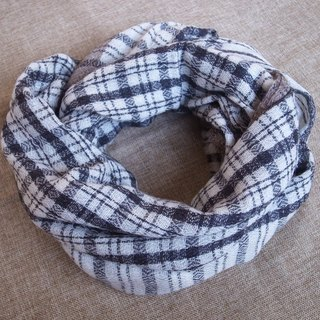 Cashmere Stripes Shawl / Scarf / Stole Handmade from Nepal Plaid_Grey