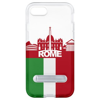 Roman style hidden magnet bracket iPhone 8 7 6 plus phone case