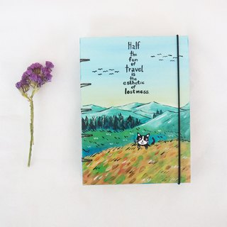 Kitty cat escapes the world.,Notebook Handmadenotebook Diary 筆記本