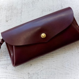 JAPAN 12 leather wallet wallet series-envelope Bitter Brown