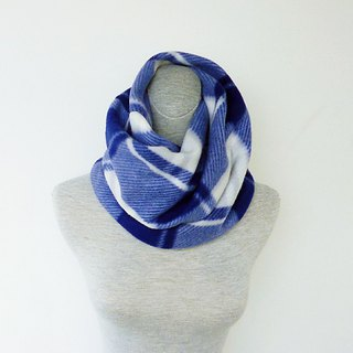 Blue light gray double-sided thick brush burr pleated neck around neck small scarf