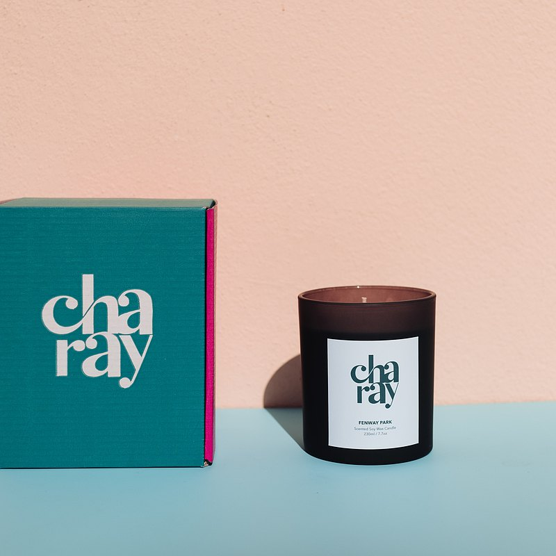 CHARAY Scented Candle FENWAY PARK Scent Size 230ml.
