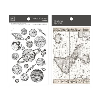 [Print-On Stickers] | Vintage Series 56-Astronomical Geography | Pocket, DIY Friends