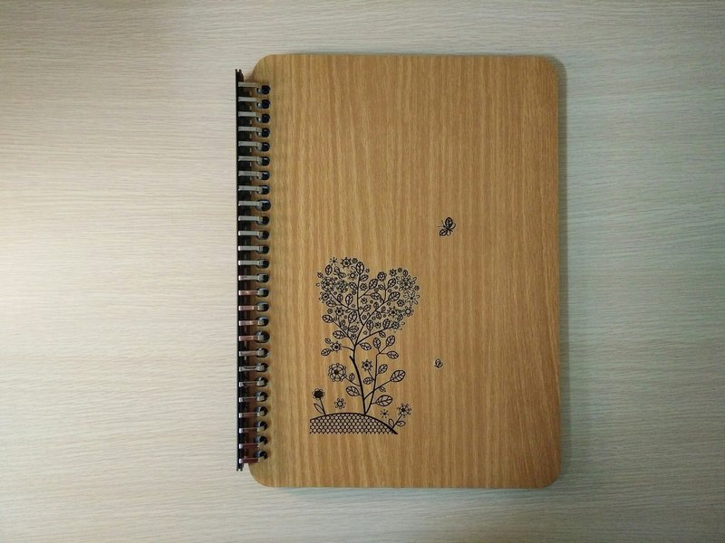 Taiwan stack [customization - color and pattern can be replaced] B5 two loose-leaf 26 hole notebook - heart of the tree notebook / album / stationery / folders / gifts / gifts