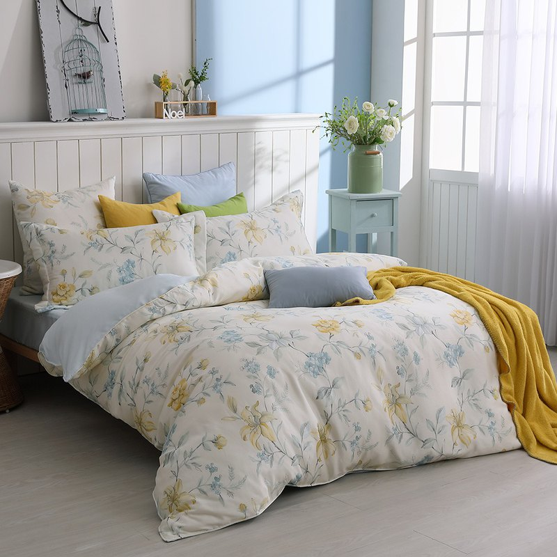 South Law Garden - increase the Tiansi shop cotton bed package four pieces [40 100% Lysell] 6 * 6.2 feet
