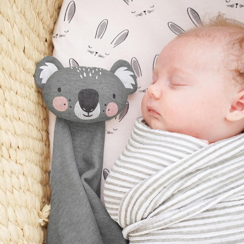 Mister Fly Cotton Soft Comforting Towel-Dark Grey Koala MFLY138