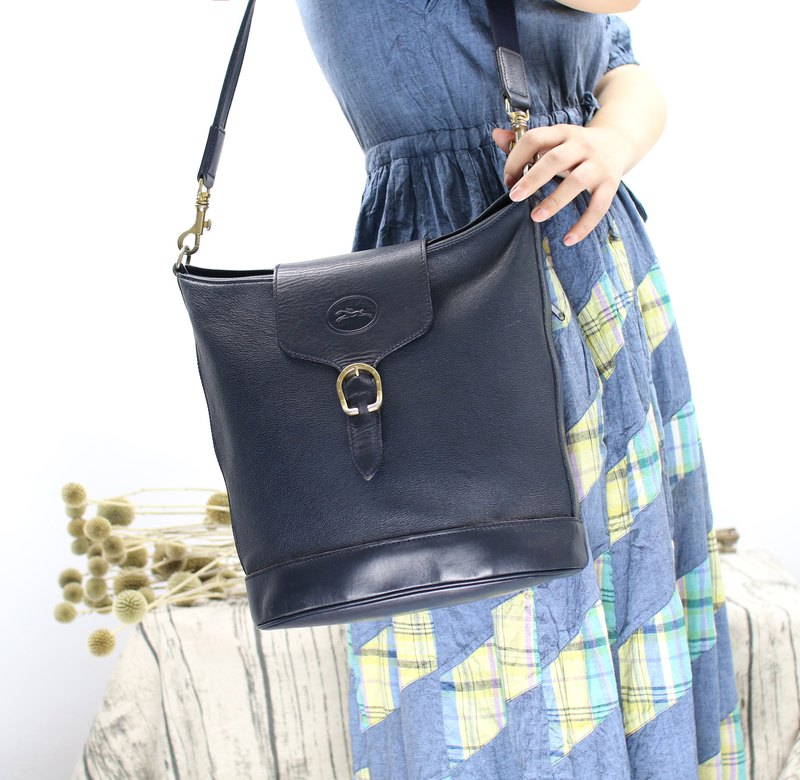 Back to Green::LONGCHAMP Deep Blue // Vintage Bag