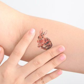 Rabbit temporary tattoo buy 3 get 1 Floral tattoo party wedding decoration gift