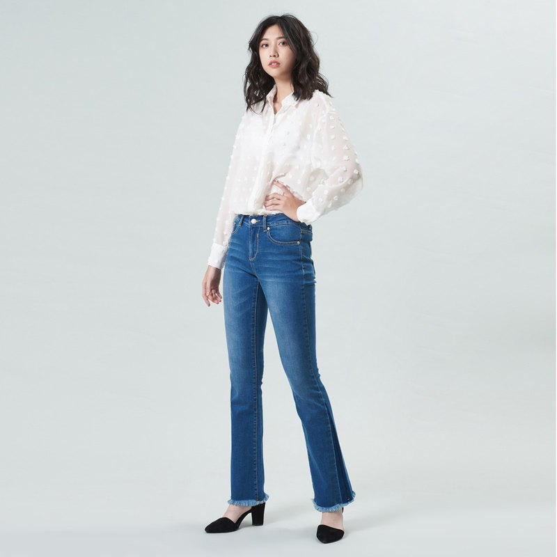 Classic small horn hit color jeans