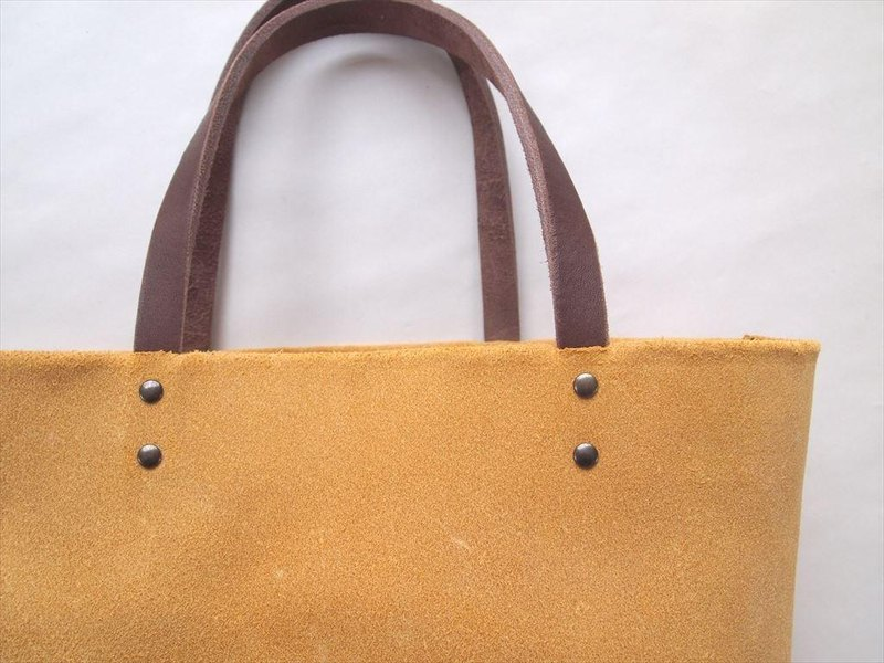 [New] floor leather tote bag [M size] yellow [MTO] yellow leather
