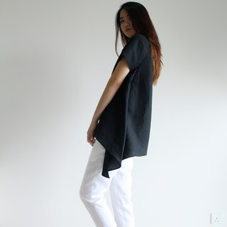 made to order linen blouse / clothing / casual / top / women /natural top E 28T