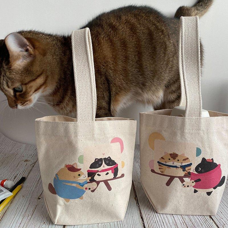 畫家貓咪 眼中的彼此 飲料提袋 環保袋 提袋