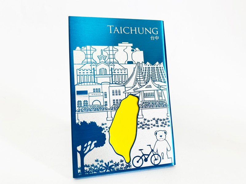 Taiwan Bussiness Card Holder_Taichung_Blueカードケース