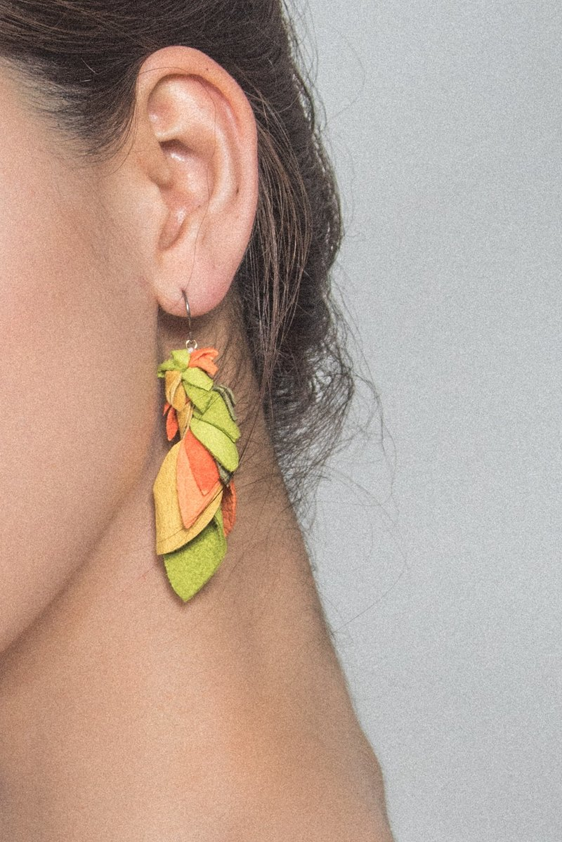 parotts * leather earrings: Earrings *