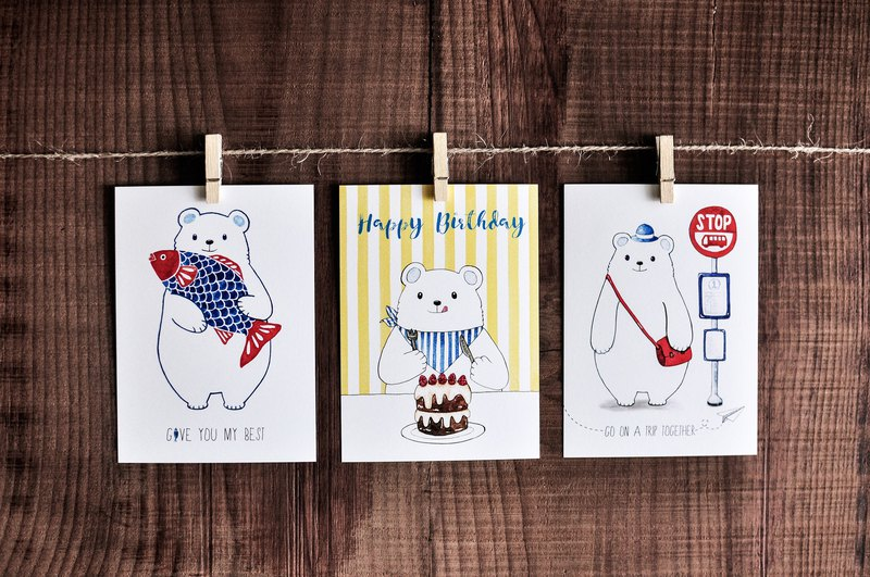 Mr. Bell series card - offering fish articles / birthday articles / travel articles / postcards