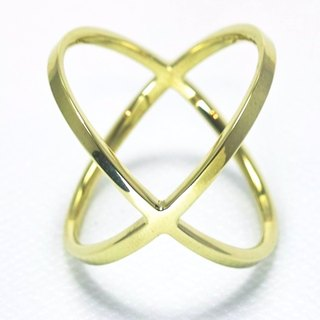"Japan Quality | inGod LOVE Ring ""KISS"" Brass"