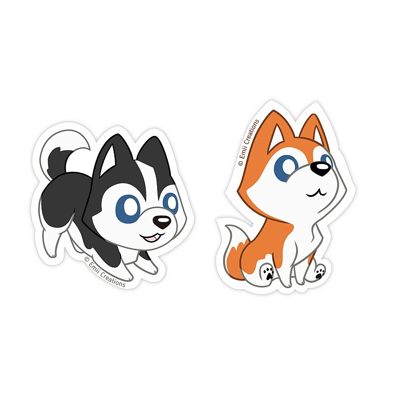 Cute Husky Dog Sticker