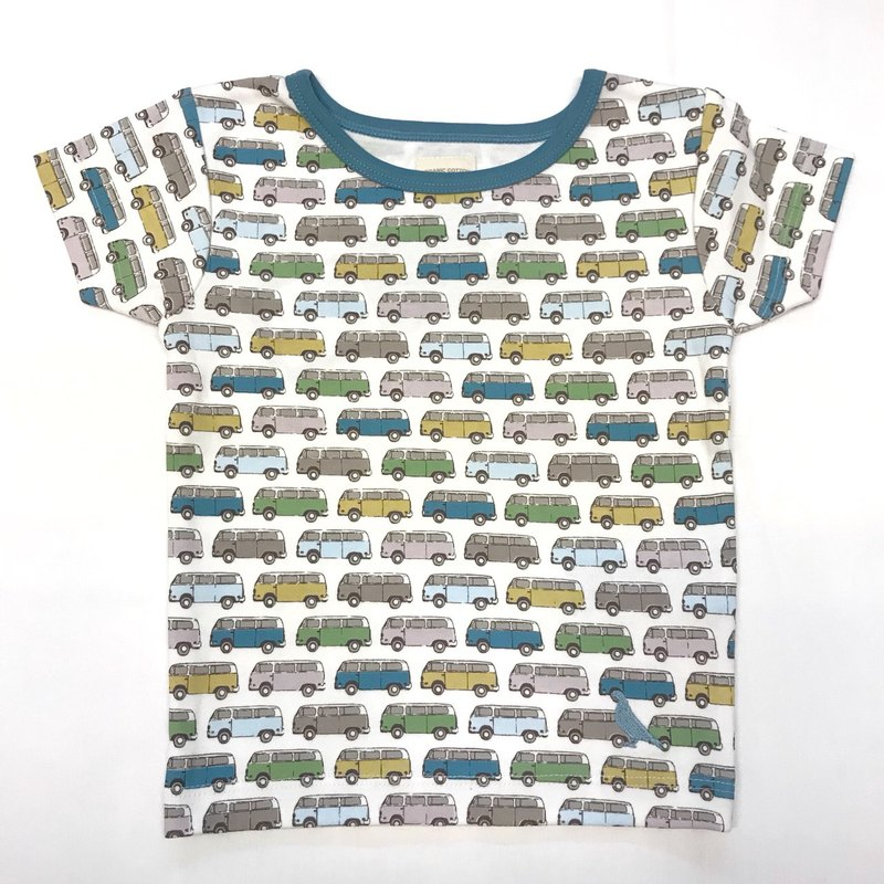 100% Organic Cotton Camper Print Children's Short Sleeve Top