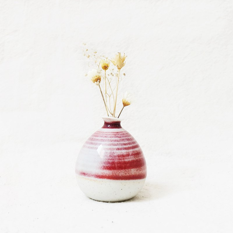 Handmade Ceramic Mini Flower - Cherry Red