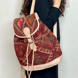 Tribal girl's tribal velvet backpack