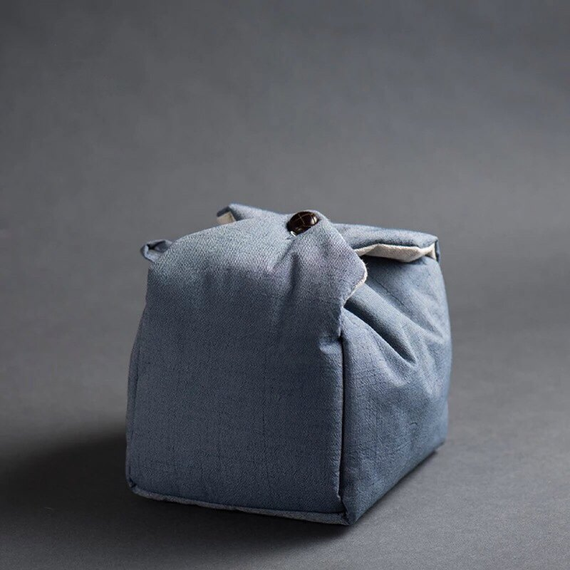 Speaking | Japanese-style vintage cotton and linen storage bag, one pot, two cups, storage bag