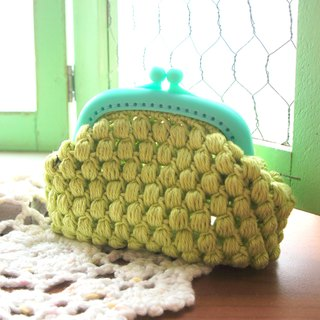 Hand-woven green tea popcorn candy mouth package / coin ~ ~