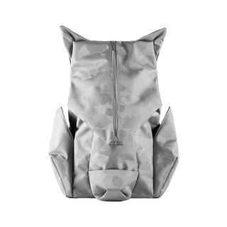 ORIBAGU Origami Pack_Silver Camo Mountain Pig Backpack
