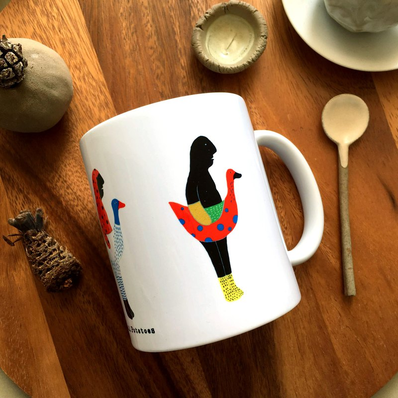 Illustration mug _ goose treasure