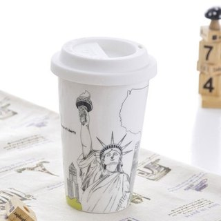JB Design I am not a paper cup ~ city style series of American freedom goddess