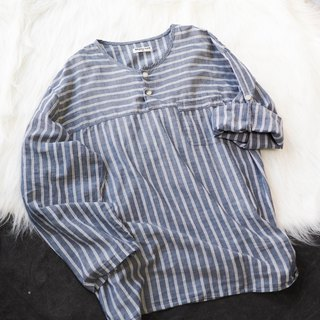 River Water Mountain - Aomori Latte Black Simple Plaid Weekend Party Antique Cotton Shirt Top Jacket