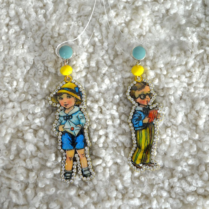 TIMBEE LO Kids Doll Crystal Earrings Retro Lightweight Customizable Other Patterns
