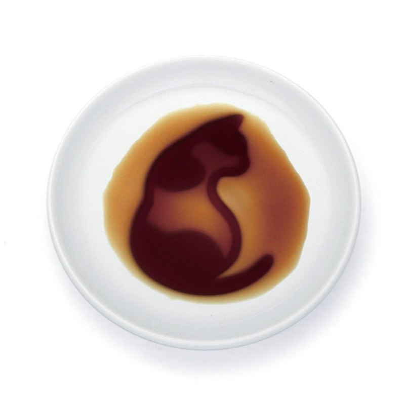 Layer sauce dish - cat sitting sideways