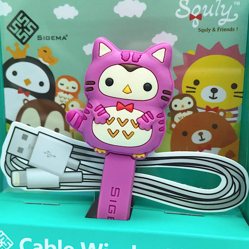 Cute Owl Cartoon Character Cable Winder Plus (Wonderland - Owlly) - E017SQE