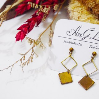 ❡ square earrings