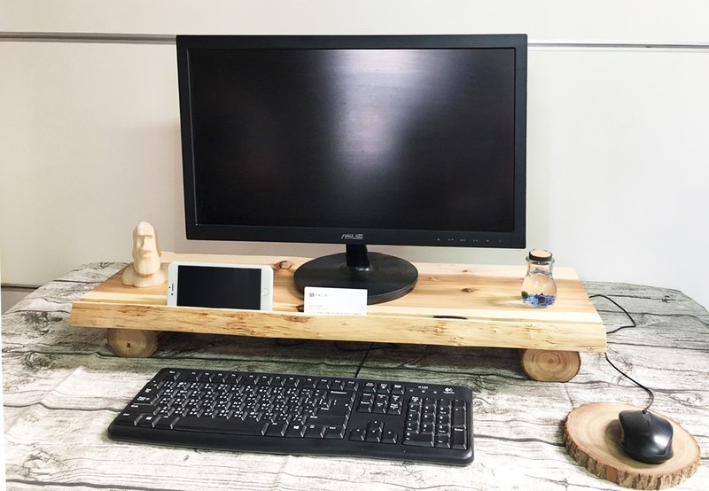 Wood logs for multi-function computer rack