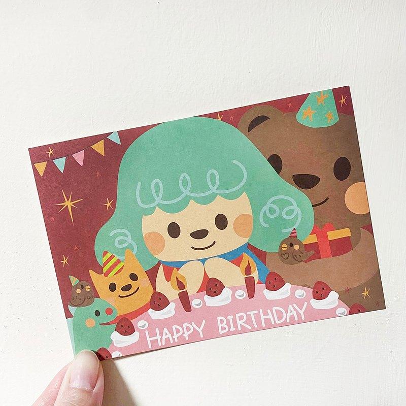 【生日快樂-吹蠟燭】明信片