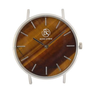 BOND STONE SHINE TIGER EYE 36mm watch body only (belt optional)