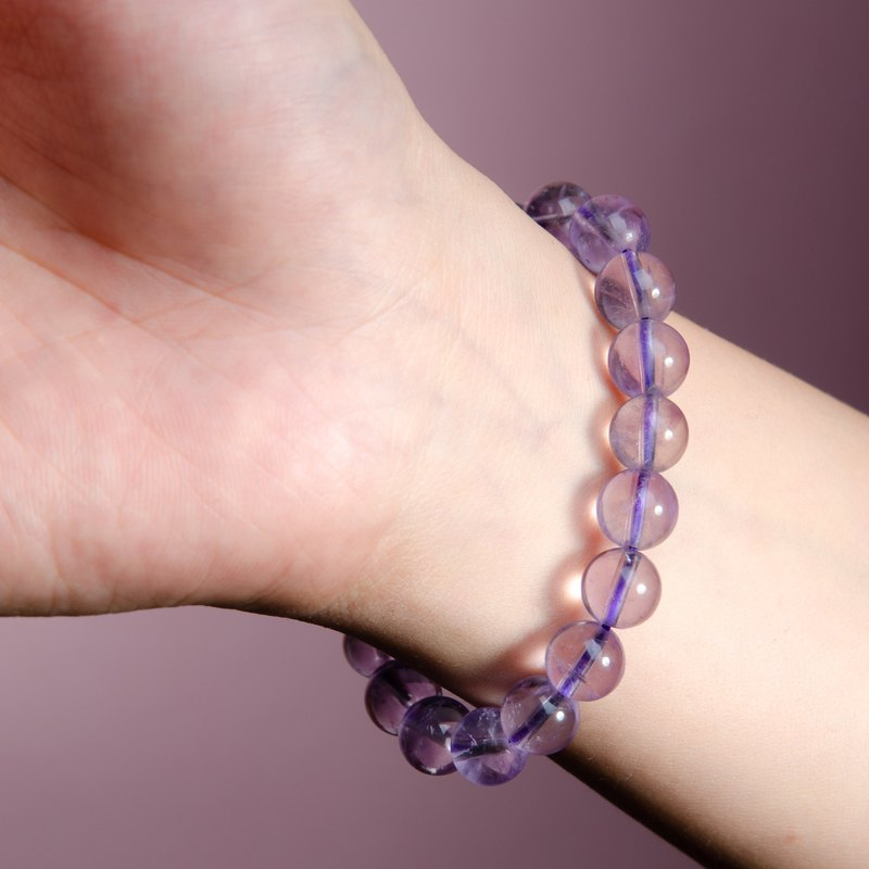 Amethyst Zircon Natural Gemstone Crystal Bracelet