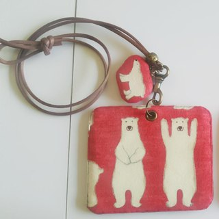 Mini Bear Hand Polar Bear Card Holder/Card Set + Pendant Identification Card with Exclusive Style