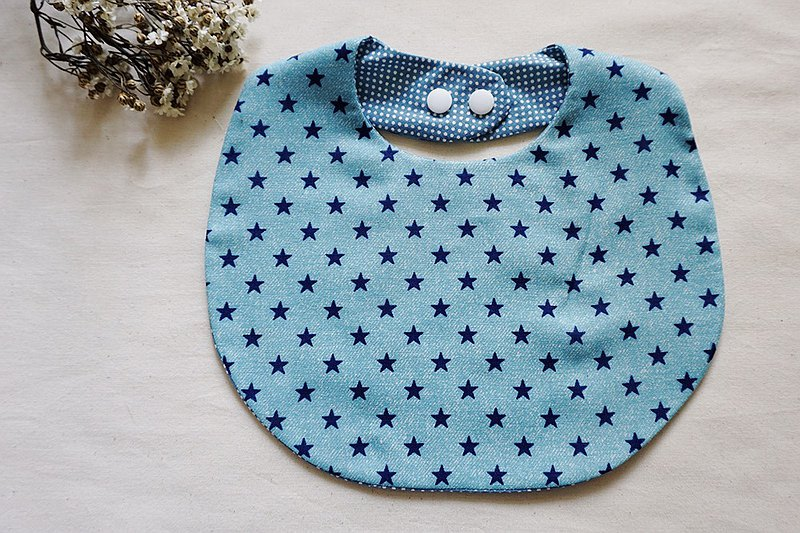 Baby bib pocket saliva towel basic denim stars