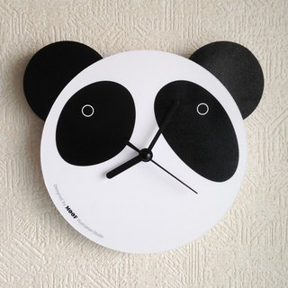 Muff Wall Clock Illustration Panda Wall Clock Animal Humor Simple Design