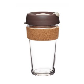 KeepCup Brew Cork-Glass Coffee Cup L -Almond