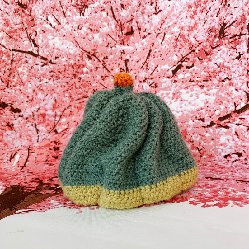 [Pure hand-knit wool hat for dolls | 015 little gourd]