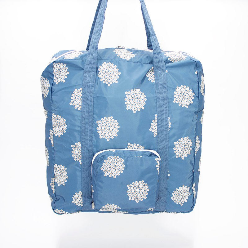 Ra Eco-friendly Super Light Waterproof Floral Foldable Duffel Bag (Blue Blossom)