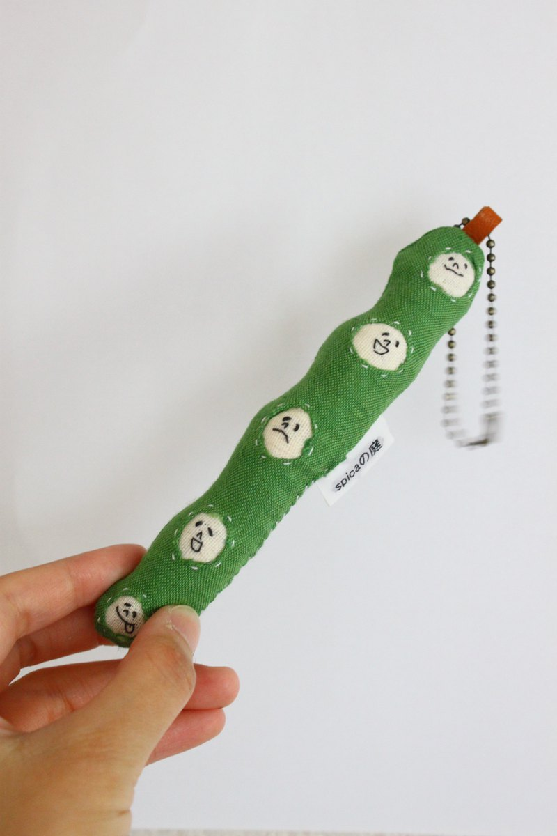 Green peas Key chain  Strap