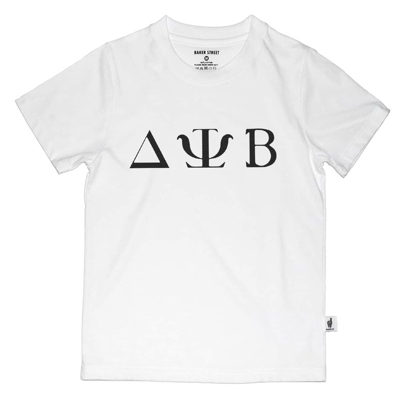British Fashion Brand -Baker Street- Greek Font Printed T-shirt for Kids