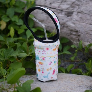 Dinosaur Drink Bag - White